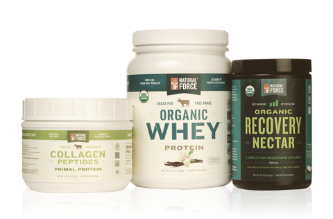 Total Recovery Stack w/ Vanilla Whey + Collagen - Natural Force - 1