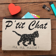 Pochette Chat <br/> P'tit Chat Ma Ma Maow Beige Ceat Me