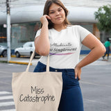 Shopping bag Caractère <br/> Miss Catastrophe Blanc Ceat Me
