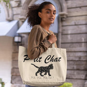 Shopping bag Chat <br/> P'tit Chat Ma Ma Maow Blanc Ceat Me