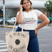 Shopping bag Je Peux Pas <br/> J'ai Volley Blanc Ceat Me