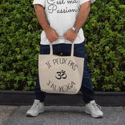 Shopping bag Je Peux Pas <br/> J'ai Yoga Blanc Ceat Me