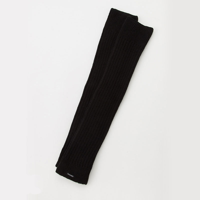 WOOL BLEND RIBBED LEG WARMER