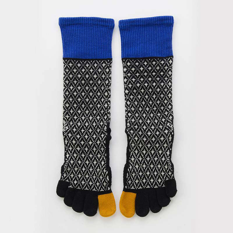 ORGANIC COTTON DIAMOND MIDCALF TOE SOCKS