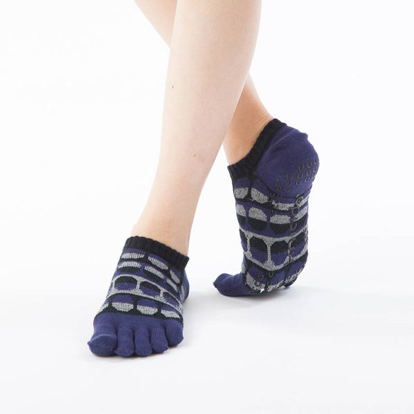ORGANIC COTTON HEATHER TOE FOOTIE TOE SOCKS