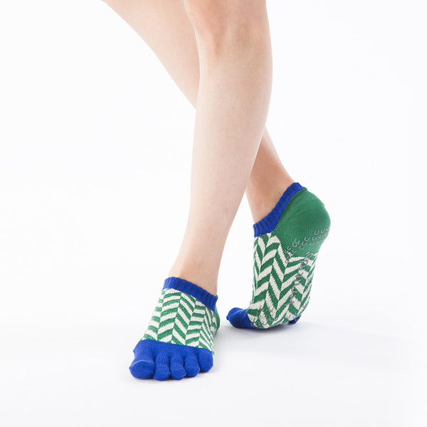 ORGANIC COTTON HERRINGBONE OPEN TOE LINER SOCKS