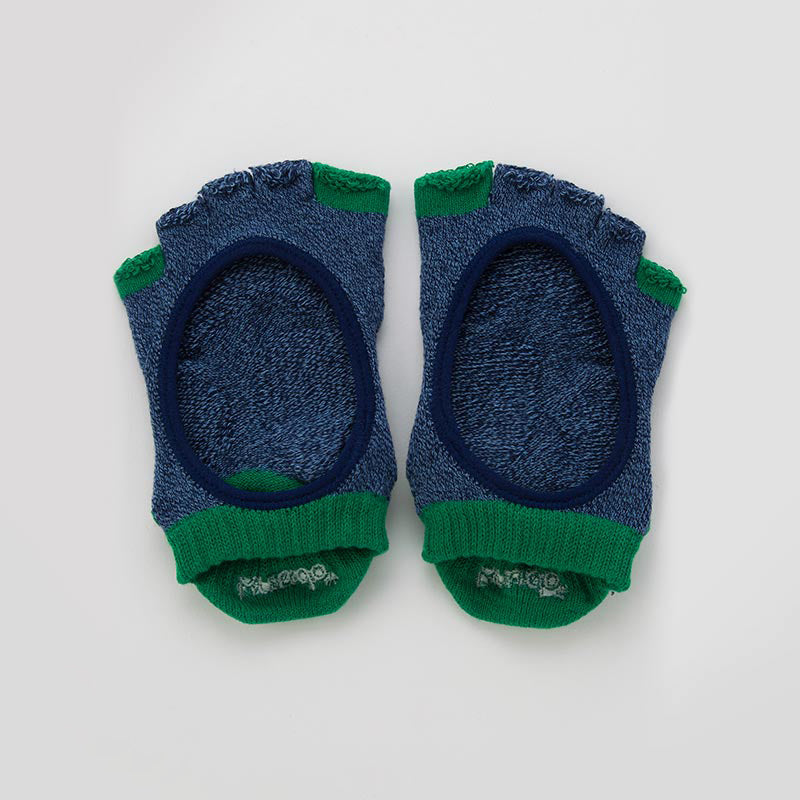 TWO COLORS OPEN TOE FOOTIE SOCKS *BETTER BALANCE*