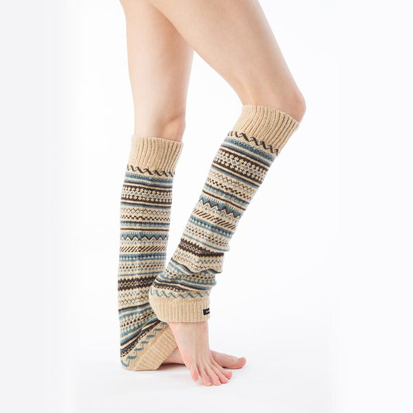 WOOL BLEND FAIR ISLE LEG WARMER