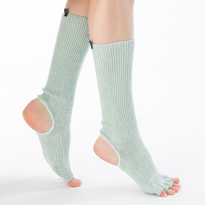 ORGANIC COTTON BOTANICAL DYED OPEN TOE/HEEL SOCKS