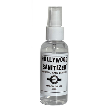 Hollywood Hand Sanitizer Spray Bottle (Liquid with 80% Alcohol)