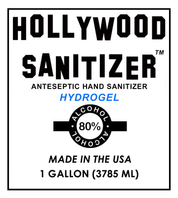Hollywood Hand Sanitizer (Hydrogel with 80% Alcohol)