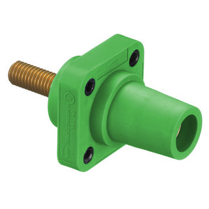 Hubbell Cam-Lok (HBLFRSGN) - Panel Mount Stud - Female - Green