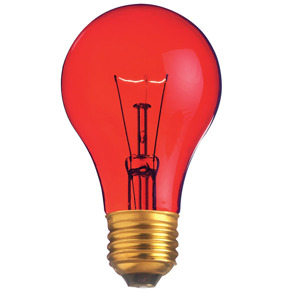 Satco S6080 - 25W Transparent Red Household Bulb