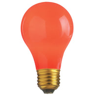 Satco S6090 - 25W Ceramic Red Household Bulb