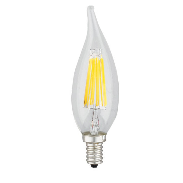 SpotLite 55003 - 6W LED - Flame Tip - E12 Candelabra Screw - Dimmable