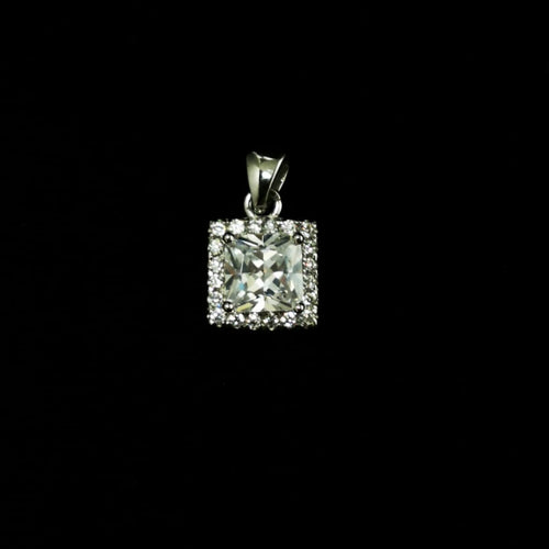 Princess Cut CZ Pendant