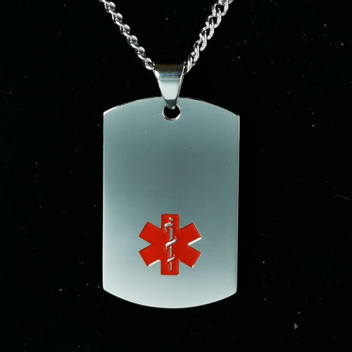 Stainless Steel Medical Dog Tag