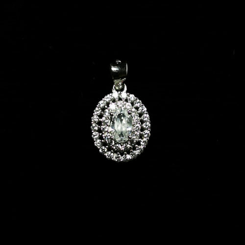 Sterling Silver CZ Center Pendant