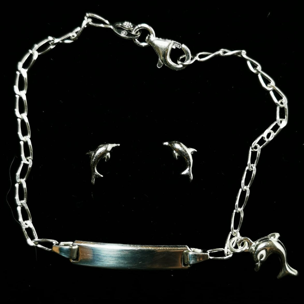 Junior Dolphin Earring and Bracelet Set