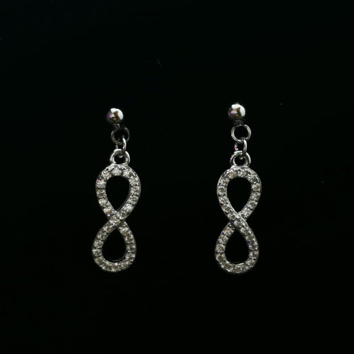 Infinity CZ earrings