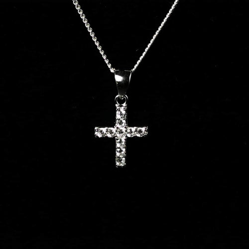 Sterling Silver CZ Cross