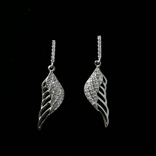 Wing Themed CZ Earrings