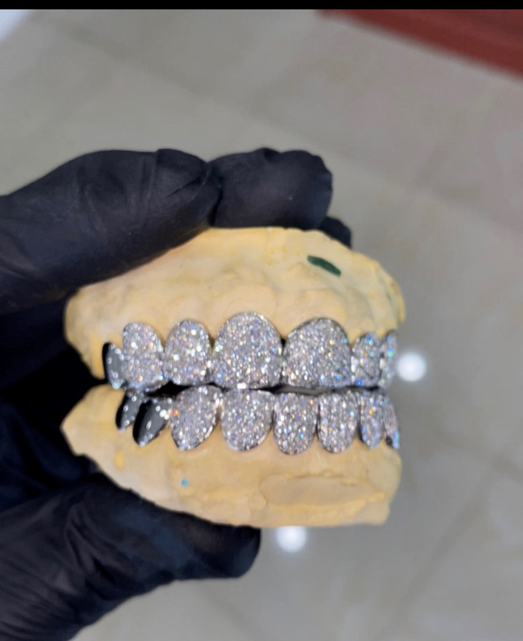 14K Vs Diamond Grill 16 Teeth