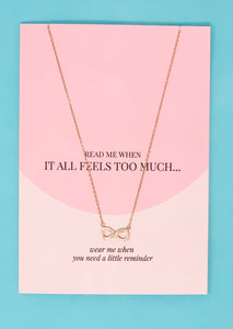 Too much jewellery greeting card
