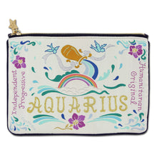 Load image into Gallery viewer, Aquarius Astrology Zip Pouch
