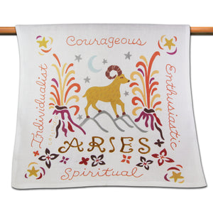 Aries Astrology Dish Towel