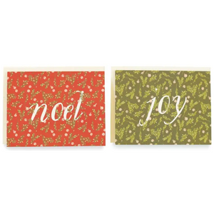 Boxwood + Bells Joy & Noel Cards / Boxed Set of 8