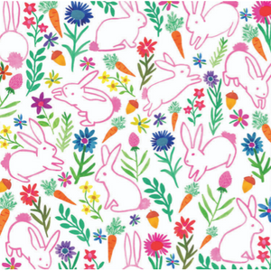 Bunny Garden Paper Placemat Pad