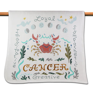 Cancer Astrology Dish Towel