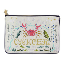 Load image into Gallery viewer, Cancer Astrology Zip Pouch