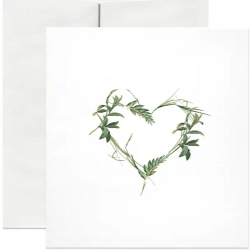 Green Heart Greeting Card
