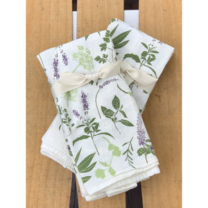 Herb Sprigs Napkins / Set of 4