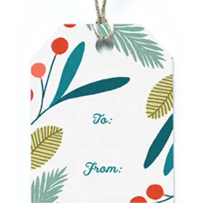 Holiday Wreath Gift Tags- Set of 8