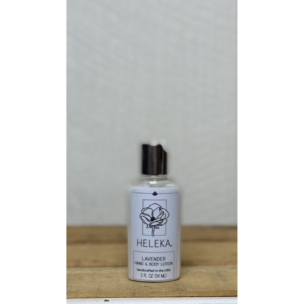 Lavender Hand and Body Lotion 2oz by Heleka
