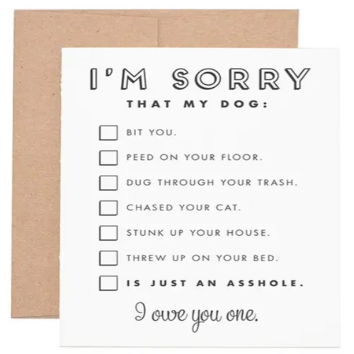 Sorry My Dog... Greeting Card