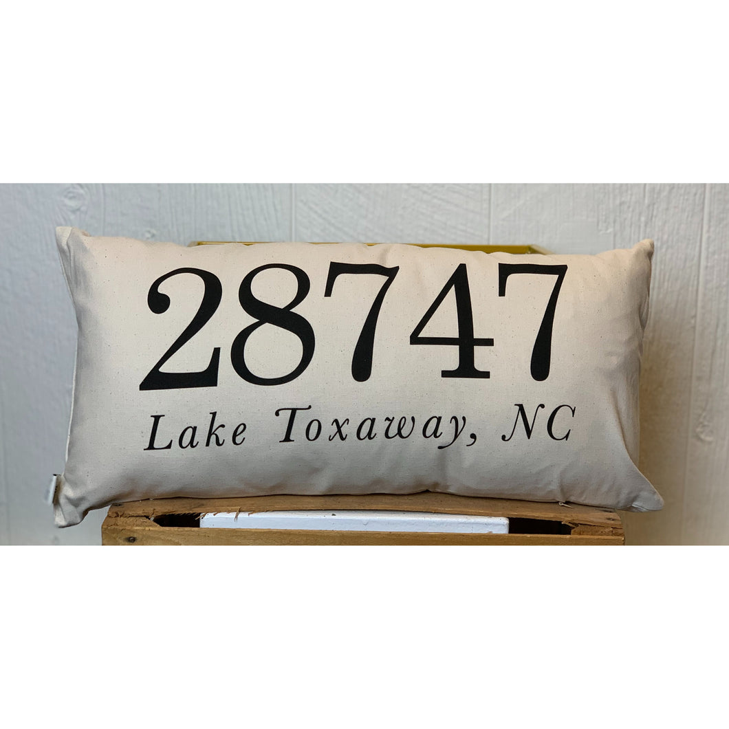 Lake Toxaway, NC Lumbar Pillow