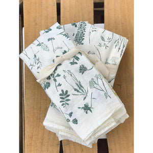 Mixed Wildflowers Napkins / Set of 4