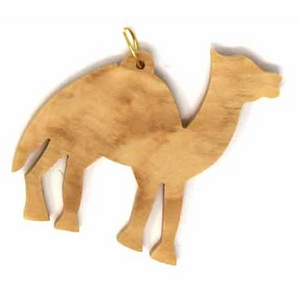 Olive Wood Camel Ornament