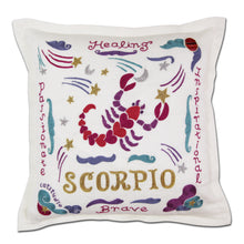 Load image into Gallery viewer, Scorpio Astrology Hand-Embroidered Pillow