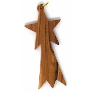 Olive Wood Shooting Star Ornament