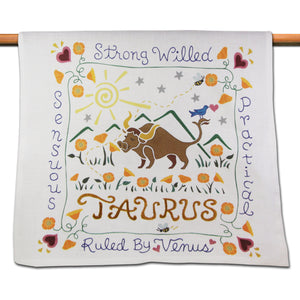 Taurus Astrology Dish Towel