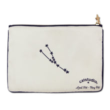 Load image into Gallery viewer, Taurus Astrology Zip Pouch