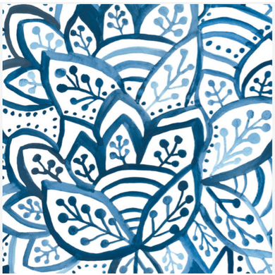 Blue Burst Paper Placemat
