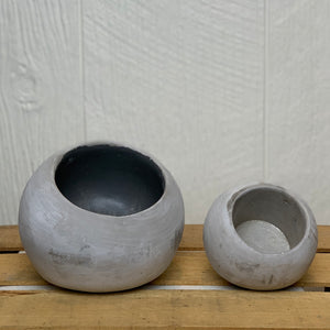Round Cement Planters