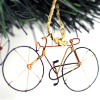 Recycled Wire Bicycle Ornament
