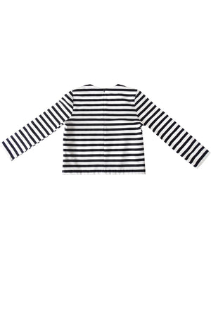 Dream black and white stripe top